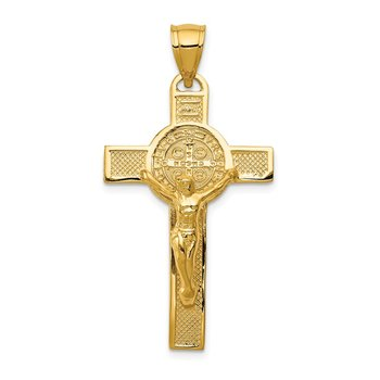 14k San Benito 2-Sided Crucifix Pendant
