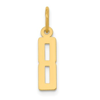 14k Small Polished Elongated 8 Charm