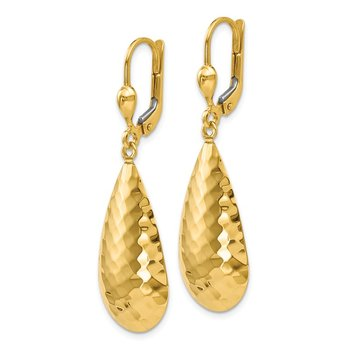 Leslie's 14K Hammered Lever Back Earrings