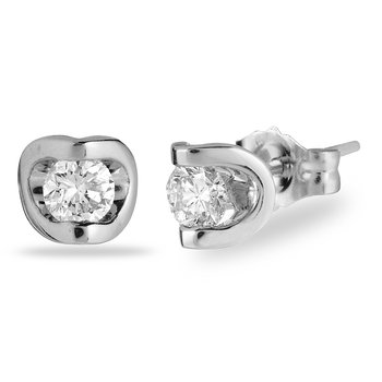 14K WG Diamond 'Deep Love' Earring