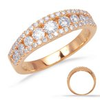 S. Kashi  & Sons Rose Gold Wedding Band