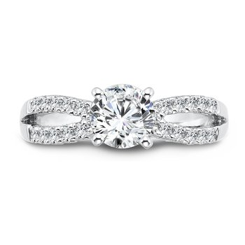 Classic Elegance Collection Split Shank Diamond Engagement Ring in 14K White Gold with Platinum Head (3/4ct. tw.)