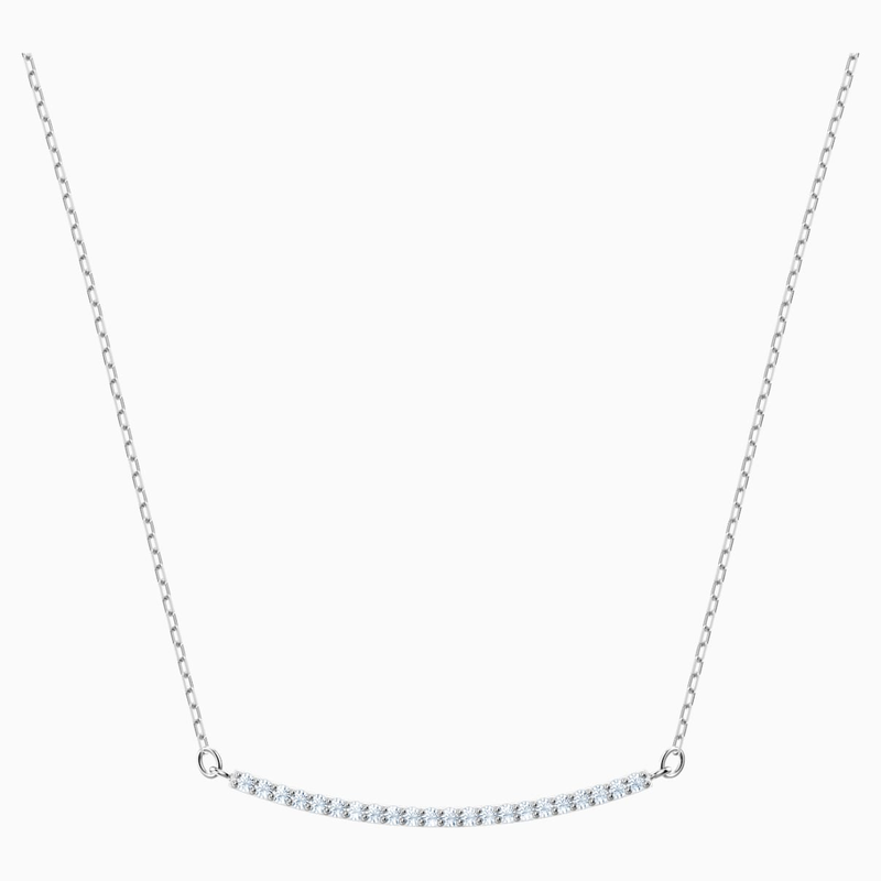 Swarovski Only Necklace, White, Rhodium plated