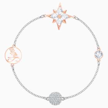 Swarovski Remix Collection Star Strand, Multi-colored, Mixed metal finish