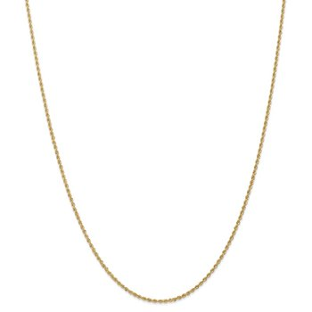 14k 1.50mm Regular Rope Chain Anklet