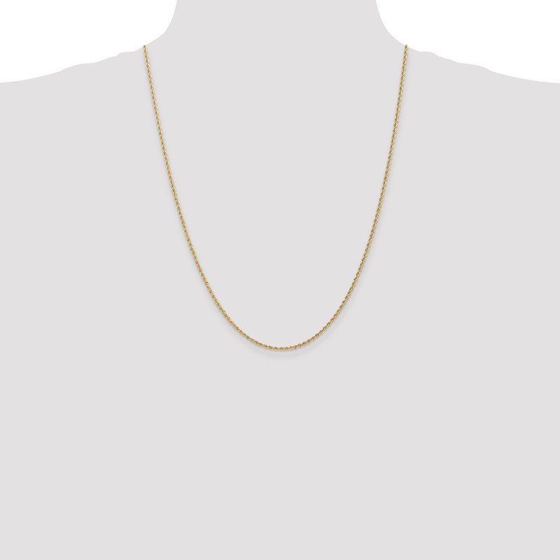Quality Gold 14k 1.50mm Regular Rope Chain Anklet