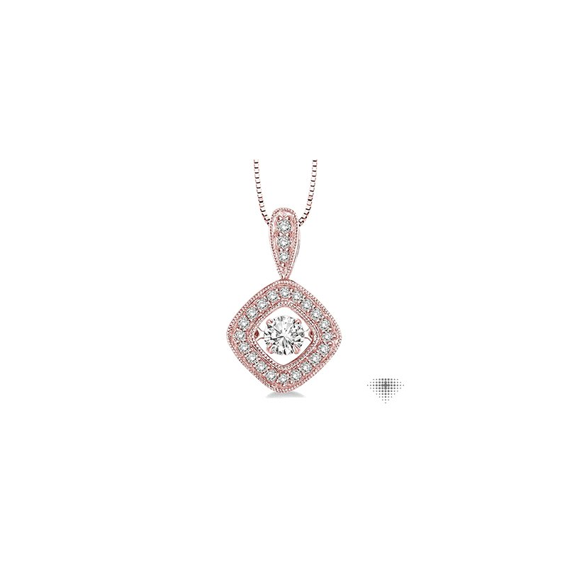 Emotion Diamonds Asscher Shape Emotion Diamond Pendant