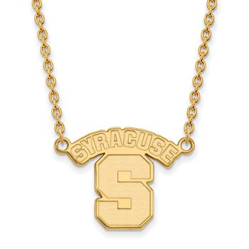 Gold Syracuse University NCAA Necklace