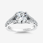 Valina Diamond Split Shank Engagement Ring in 14K White Gold (0.42 ct. tw.)