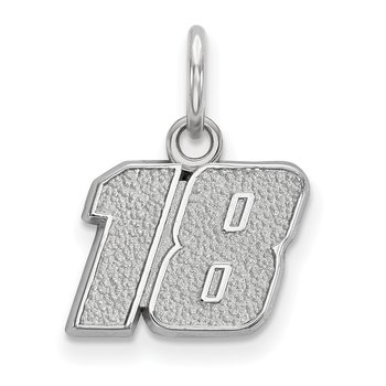 Sterling Silver 18 Kyle Busch NASCAR Charm