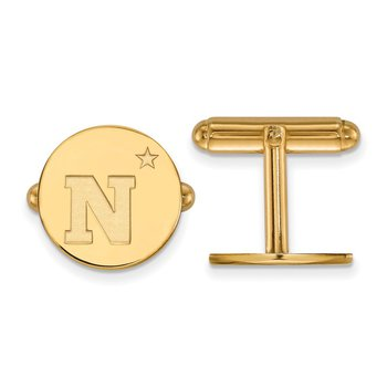 Gold United States Naval Academy NCAA Cuff Links