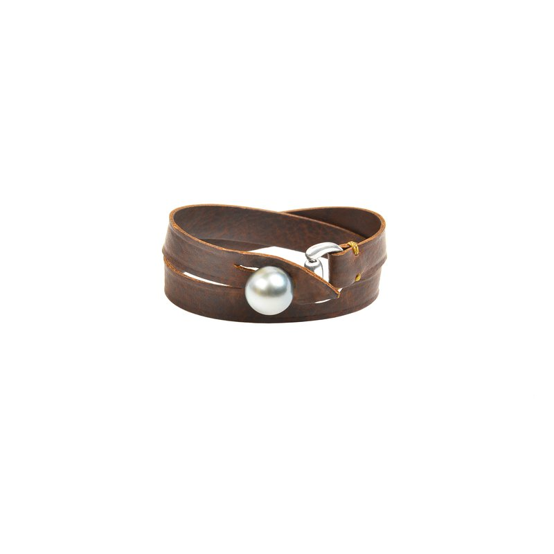 Vincent Peach Equestrian Double Wrap Brown