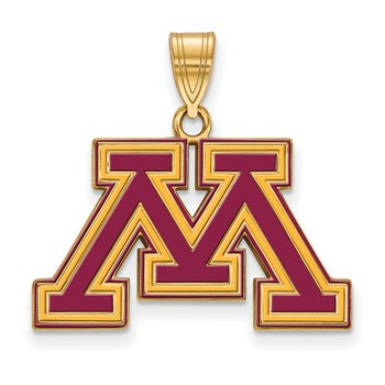 Gold-Plated Sterling Silver University of Minnesota NCAA Pendant