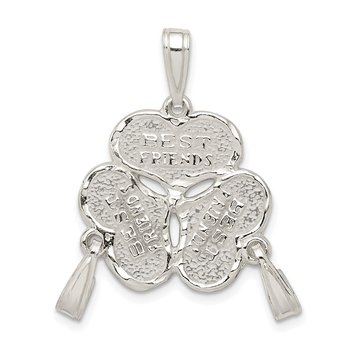Sterling Silver 3-Piece Best Friends Charm