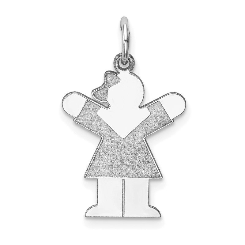 JC Sipe Essentials Sterling Silver Rhodium-plated Love Kid Charm