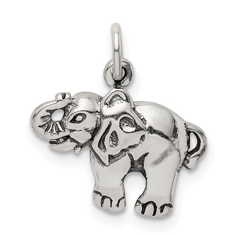Lester Martin Online Collection Sterling Silver Antique Elephant Charm