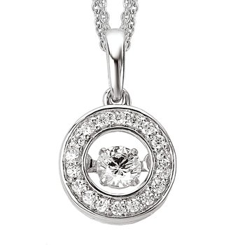 Ladies Fashion Halo Diamond Pendant