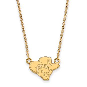 Gold-Plated Sterling Silver University of Nebraska NCAA Necklace