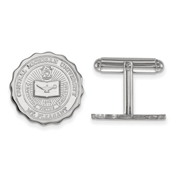Sterling Silver Central Michigan University NCAA Cuff Links
