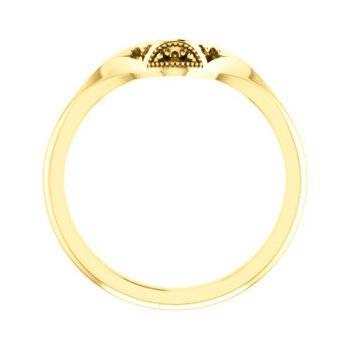 18K Yellow Matching Band Mounting for Oval Ring