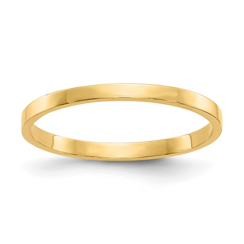 Quality Gold 14K High Polished Band Childs Ring