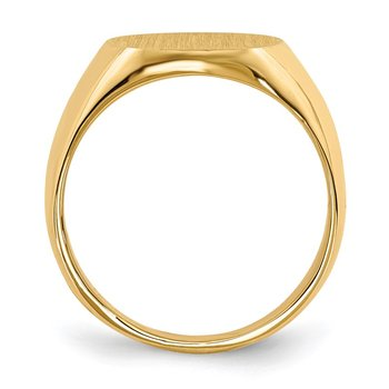 14k 14.0x12.5mm Closed Back Signet Ring