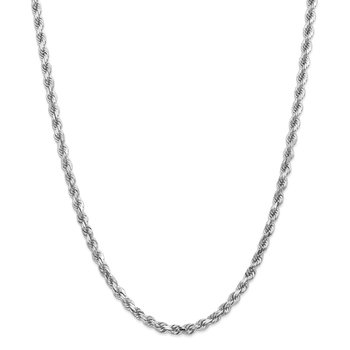 14k White Gold 4.5mm D/C Rope with Lobster Clasp Chain