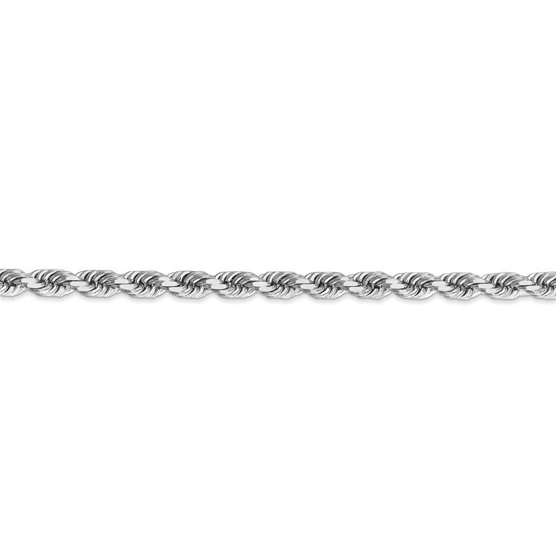 Quality Gold 14k White Gold 4.5mm D/C Rope with Lobster Clasp Chain