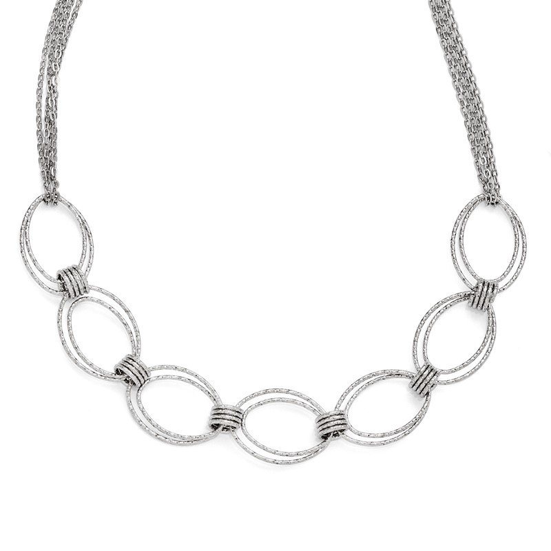 Leslie's Leslie's Sterling Silver Fancy Link w/2in ext. Necklace