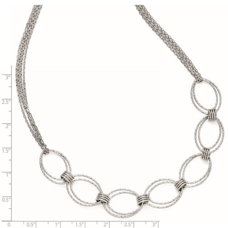 JC Sipe Essentials Leslie's Sterling Silver Fancy Link w/2in ext. Necklace