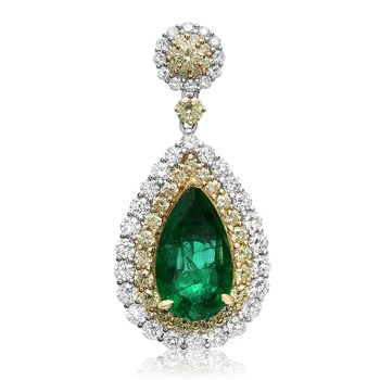Pear-shaped Emerald Drop Earrings