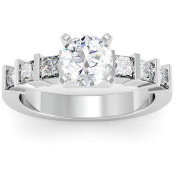 Princess Diamond Engagement Ring
