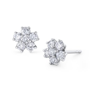 Gold and Diamond Classic Stud Earring