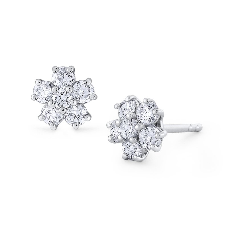 KC Designs Gold and Diamond Classic Stud Earring
