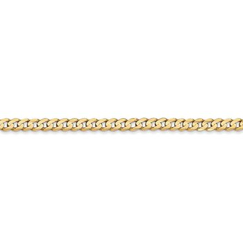 14k 3mm Open Concave Curb Chain