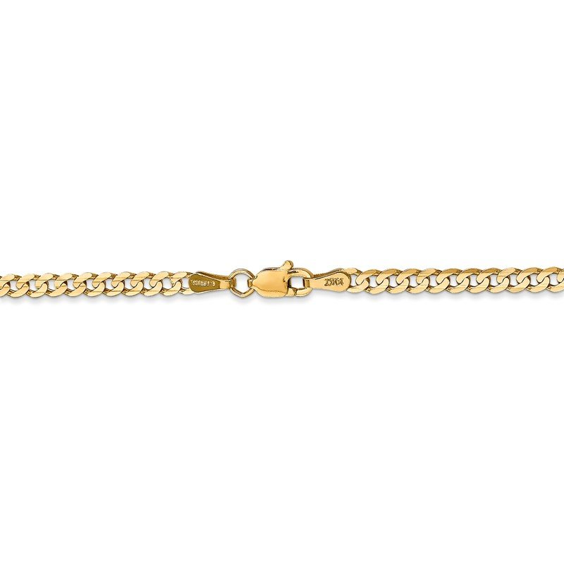 Quality Gold 14k 3mm Open Concave Curb Chain