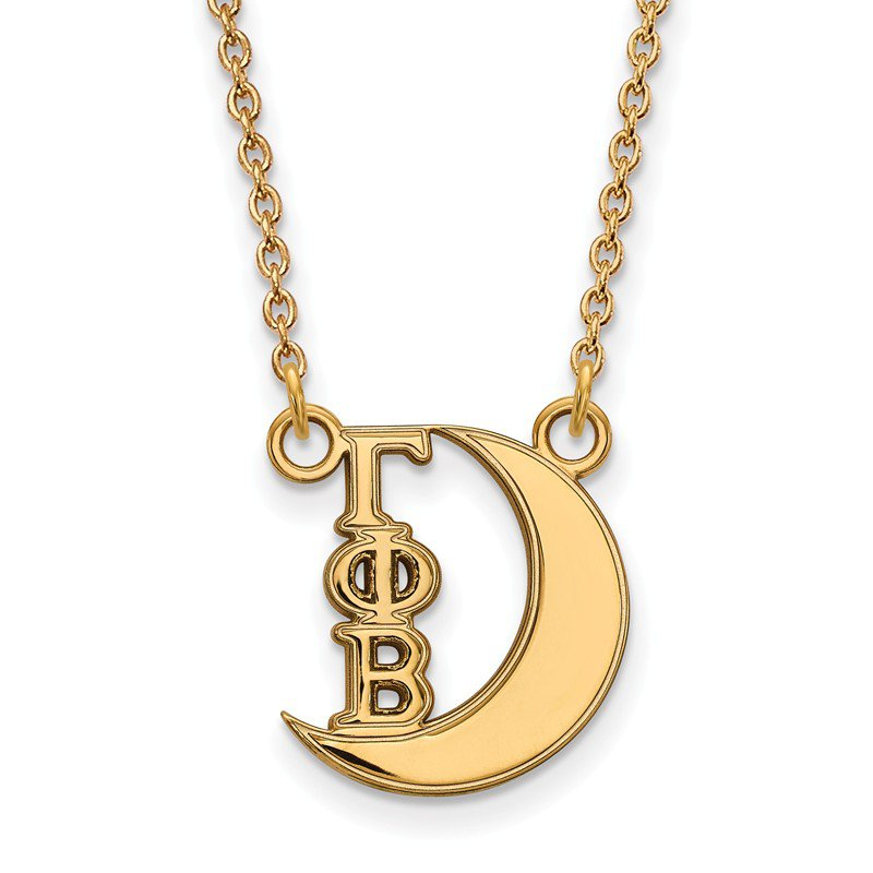 Greek Life Gold-Plated Sterling Silver Gamma Phi Beta Greek Life Necklace