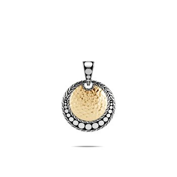 Dot Enhancer in Hammered 18K Gold and Silver. Available at our Halifax store.
