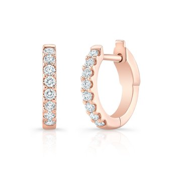 Rose Gold 1/2 Inch Round Huggie Hoops