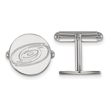 Sterling Silver Carolina Hurricanes NHL Cuff Links
