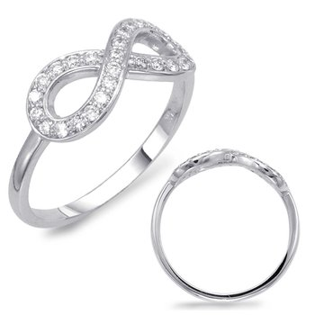 White Gold Infinity Sign Ring