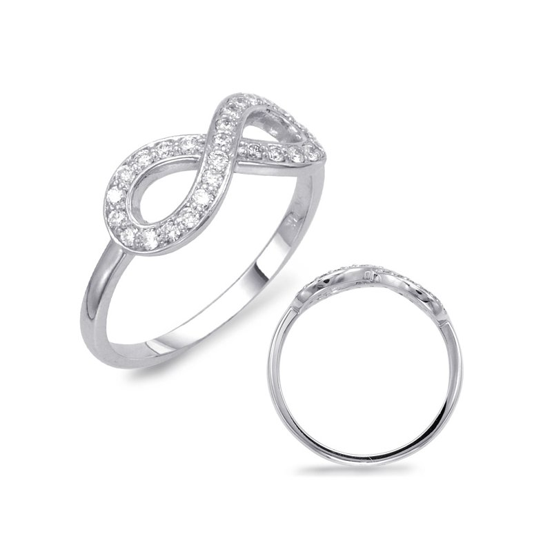 S. Kashi  & Sons White Gold Infinity Sign Ring