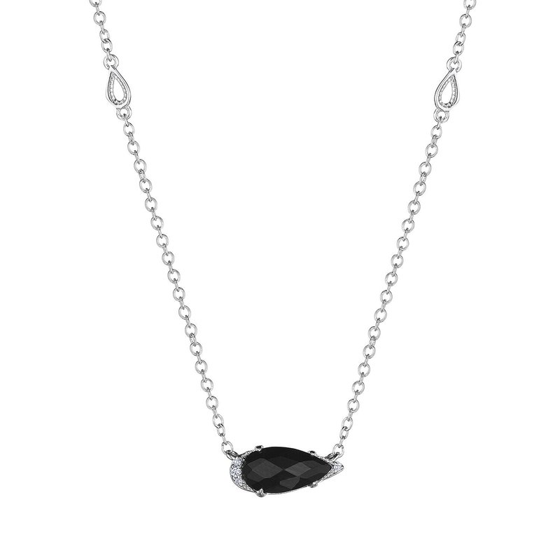 Tacori Fashion Solitaire Pear-Shaped Gem Necklace with Black Onyx