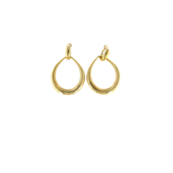 18Kt Gold Contoured Door-Knocker Earring