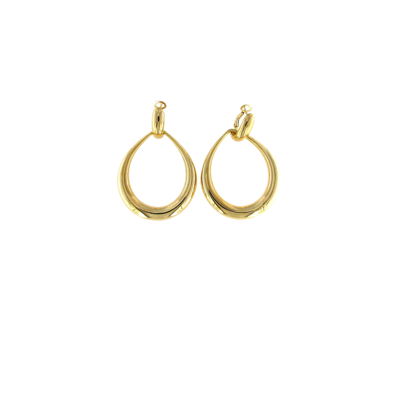 Roberto Coin 18Kt Gold Contoured Door-Knocker Earring