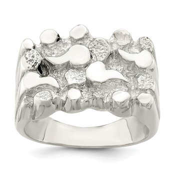 Sterling Silver Woman's Nugget Ring