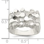 Quality Gold Sterling Silver Woman's Nugget Ring