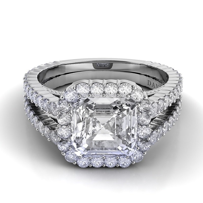 Danhov Carezza Double Shank Engagement Ring