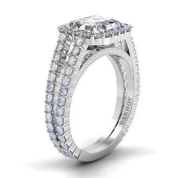Carezza Double Shank Engagement Ring