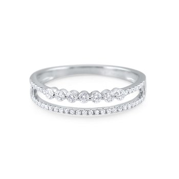 Double Row Diamond Stack Ring